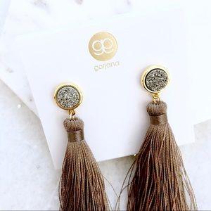 Gorjana Druzy Tassel Drop Earrings •NWT•
